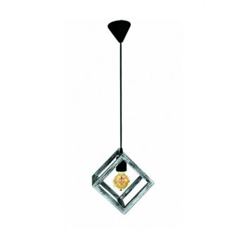 Ora Decor Natural Wood Tumbled Cube Single Wooden Chandelier Black White 1002050030