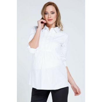 Pregnant Long Sleeve Shirt White TY8069
