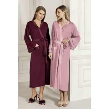 Women's Rose Dry Dressing Gown-7600-5 T1237