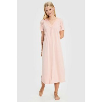Women's Pink Melange Nightgown 9W3988Z8