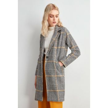 Multicolor Buttoned Coat TWOAW20KB0242