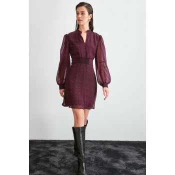 Purple Patterned Dress TWOAW20EL1760