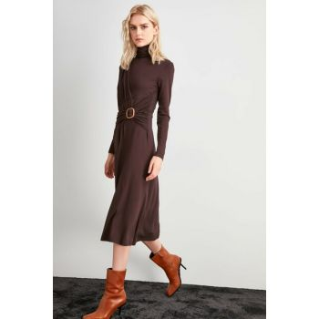 Brown Knitted Dress TWOAW20EL2018