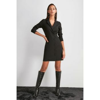 Black Button Dress TWOAW20EL1990