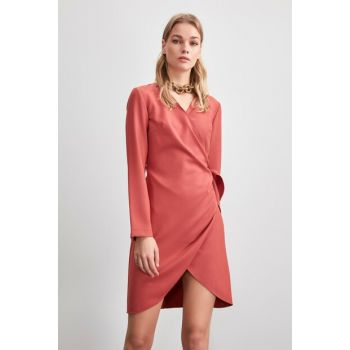 Rose Dried Double Breasted Collar Dress TWOAW20EL1884