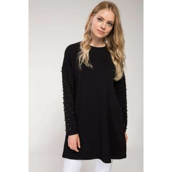 Women Pearl Detailed Blouse I9912AZ.18SP.BK46