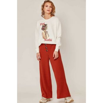 Women's Tile Front Tricot Trousers 39533 Y19W109-39533