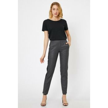 Women's Gray Mid Rise Pants, Trousers 0KAK46615IW