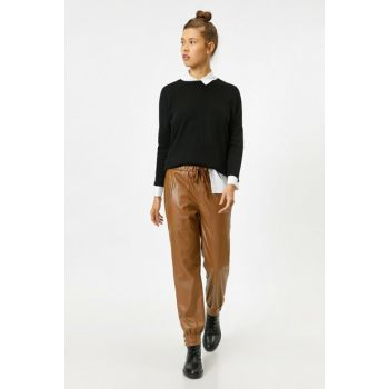 Women's Leather Pants 0KAL48338IW