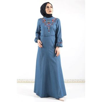 Women's Ethnic Pattern Jeans Dress Tsd0102 Outdoor TSD0102K