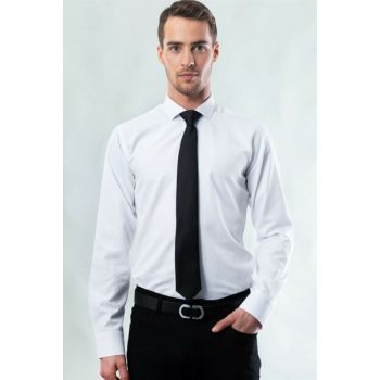 Narrow Cut White Man Shirt MD17004-200