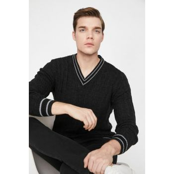 Men's Anthracite Sweater 9KAM92241GT