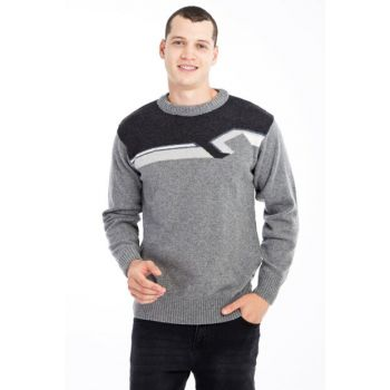 Crew Neck Pattern Sweater 79599