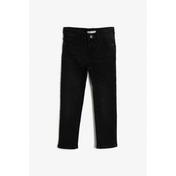 Black Boy Trousers With Pocket Detail 0KKB46175LD