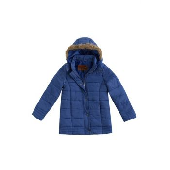 Navy Blue Girls' Coat 16Kkckbn10006