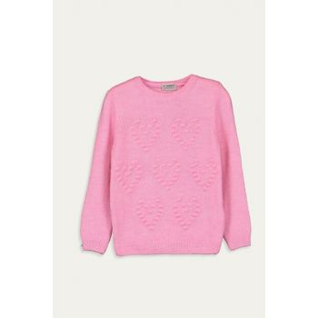 Girl's Pink Pullover Pink Sweater 9W9856Z4