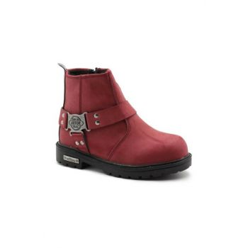 Bordeaux Kids Biker Boots CL37BRD