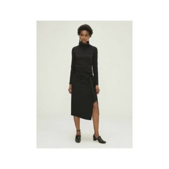 Standing Neck Basic Dress 20KB20601603-01