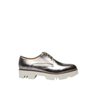 Genuine Leather Silver Women's Shoes 120120253010