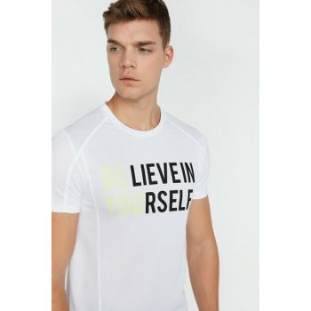 Men's White T-Shirt 0KAM12404NK