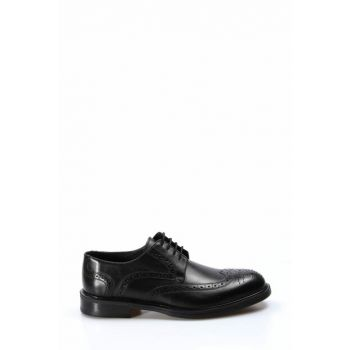 Genuine Leather Black Men Classic Shoes 2036409