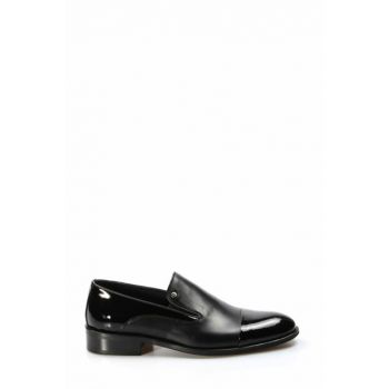 Genuine Leather Black Patent Leather Men's Classic Shoes 1884494