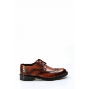 Genuine Leather Taba Men Classic Shoes 2036413
