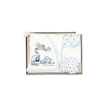 Blue Baby Boy Car Illustrated Five-Layer Set 16495