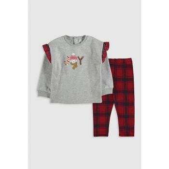 Baby Girl Gray Melange Ct3 Suit 9WM351Z1