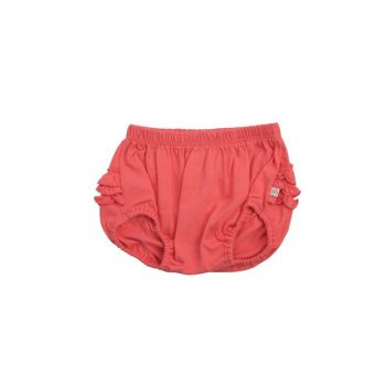 Organic Frilly Panties Coral 12-18Month 9Y01K2310001