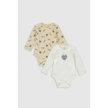 Baby Boy Ecru Printed Body with Lra Snaps 2WP099Z1