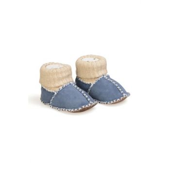 Blue Genuine Fur Stockings Baby Shoes 141107