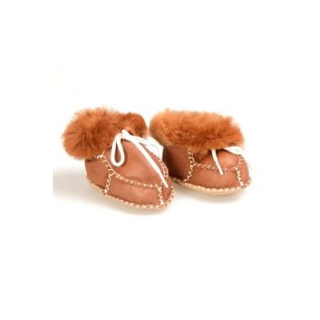 Taba Genuine Fur Lace Baby Shoes 141106