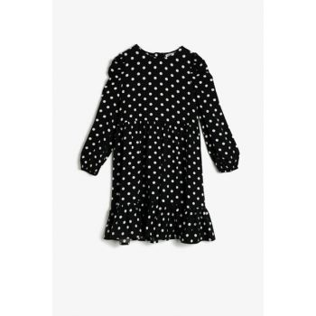 Black Girl Children Polka Dot Dress 0YKG87045OW