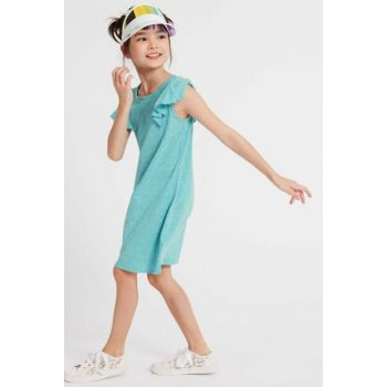 Mint Girl Child Sleeves Frilly Cotton Dress T74009713P