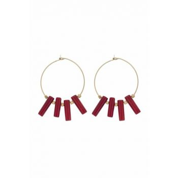 RED CORAL GOLD EARRING ES0058