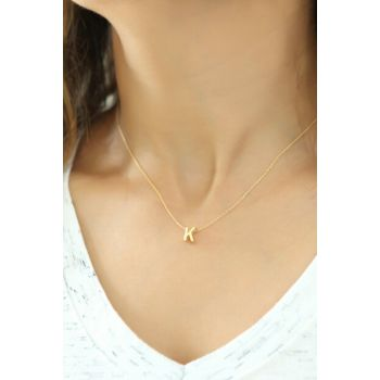 Women's 925 Sterling Silver Three-dimensional Letter Necklace Omr1314 OMR1314