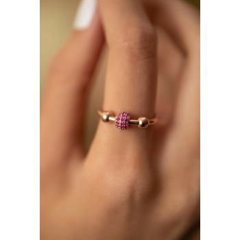 Women's Top Pattern Ruby Sterling Silver Pandora Ring PKT-İZLASLVR00720