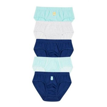 Boys' Multicolor Monster 5-Piece Slip Briefs PLXJWFRM19SK-MIX