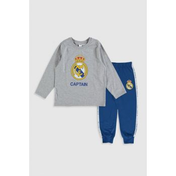 Boys' Gray Melange Pajamas Set 9WR380Z4