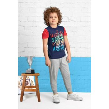 Licensed Navy Blue Boy Pajama Set US-404-C