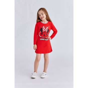 Minnie Mouse Licensed Girls Kids Nightgown Light Red 3-8 Age 11119