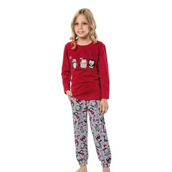 Girl's Red Pajamas Set 42569