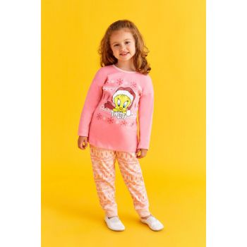 Licensed Girls Pajamas Set Pink L9800-C