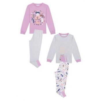 Girl's Multi-Color The Cat 4-Piece Pajamas Set PNYPMUVY19SK-MIX