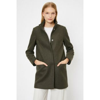 Women's Green Pocket Detailed Coat 0KAK06819EW