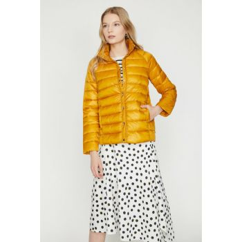 Women Yellow Inflatable Coat 9YAK23654OW
