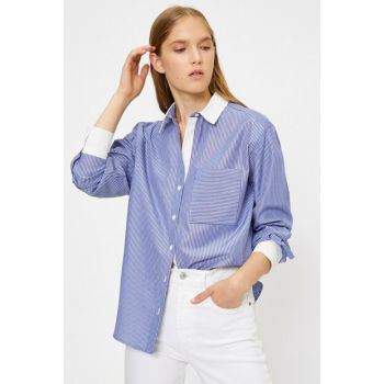 Women's Blue Striped Shirt 0KAK68221PW