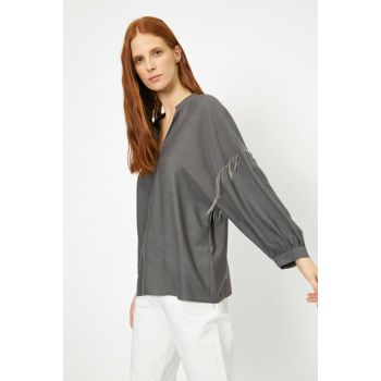 Women's Gray Blouse 0KAK68238PW