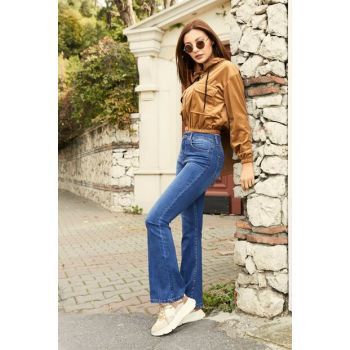 Spanish Hem Trousers - BLUE - 20KPA467K104